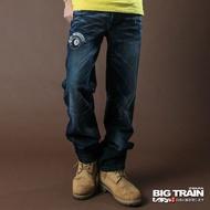BIG TRAIN BLACKBIKER潮洗垮褲-中藍
