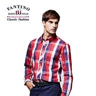 【FANTINO】男裝 格紋襯衫(紅)444324