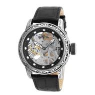 INVICTA復古系列-都會雕花機械腕錶(銀)