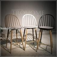 共三色 北歐復古溫莎吧台椅/美式復古軟墊吧檯椅高腳椅寫字椅餐椅/LOFT咖啡店早餐店餐廳酒吧民宿