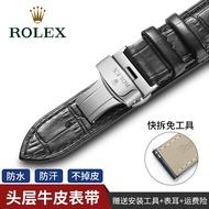 Rolex Leather Watch Strap Log Type Di Green Black Ghost Submarine Name Watch Chain Accessories Rolex