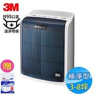 3M 3-8坪 極淨型 淨呼吸空氣清淨機 FA-T10AB N95口罩濾淨原理