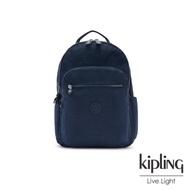 Kipling 都市沉穩藍機能手提後背包-SEOUL