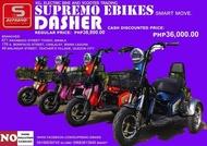 Supremo ebike Dasher 48v 20amp 3 wheels electric bikes