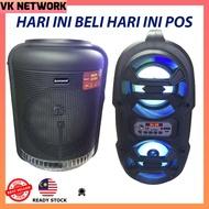 ORIGINAL Karaoke Avcrowns CH-806 Bluetooth Trolley Speaker 800W Black 2 Wireless Mic