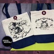◀倉庫掌門人▶Wachifield瓦奇菲爾德 達洋貓Dayan 書袋 帆布單肩包 手提袋 托特包 插畫繪本週邊 日雜