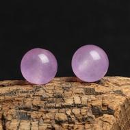 4A天然 粉紫 玉髓 散珠 DIY 半成品 飾品 圓珠 單珠 散珠 手作 手工 水晶 材料
