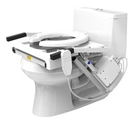 EZ-ACCESS, Tilt Toilet Lift, Single Motor, Elongated Seat, Arms and Seat Move Naturally While Sittin