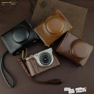 富士XF10微單相機包XF10底座開孔XF10專用保護皮套復古便攜拎包