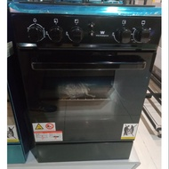 White Westinghouse gas range 50cm 3 gas burner gas oven black