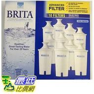 (圓形8周濾芯) Brita 濾水壺濾心/濾芯 (10入) (和舊款相容可過濾151公升)