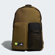 【adidas 愛迪達】後背包 背包 訓練 運動 健身 旅行 CL 3D POCKETS 深卡其 GN9876