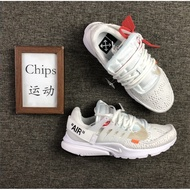 Off - White Nike Air Presto 2.0 Owl Presto Joint Black And White Running Shoes A