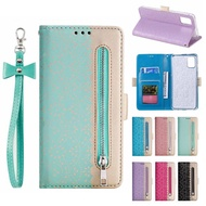 Samsung A 71 A 51 Lace Zipper Leather Case Samsung Galaxy Flip Cover Shell