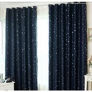 布安於室-星晨單層雙用窗簾-深藍-寬130x高150cm