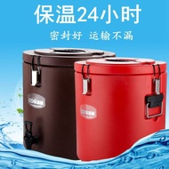 現貨  保溫桶大容量雙層不銹鋼奶茶桶商用大容量奶茶桶13L-50L車載保溫桶 咖啡果汁豆漿冷熱桶保溫保冷
