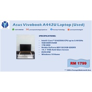 "Asus Vivobook A442U Laptop (i5/4GB/1TB/MX130/14.1""/DVD/Win10Home/Used)"