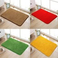 現貨家用金黃色門口進門地墊臥室門廳大紅色喜慶地毯浴室草坪綠色腳墊