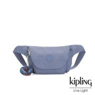 【KIPLING】氣質粉嫩藍翻蓋隨身腰包-ARVIN