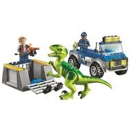 10919 Legoings Jurassic World Dinosaurs Velociraptor Raptor Rescue Truck Blocks Toys Children Legoings Jurassic Parked 1