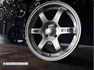 TE37 DESIGN 15X7 4X100 ET35 SILVER Sport Rim # Accept Trade In at Seller Workshop #( INSTALLATION AT TAMAN UNIVERSITI JOHOR BAHRU) - No delivery available