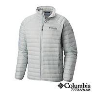 Columbia哥倫比亞 男款-鈦 Omni-heat 3D保暖立領羽絨外套-灰色