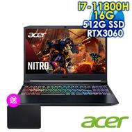 【開學送2TB】ACER宏碁 Nitro5 AN515-57-74AB 黑(i7-11800H/16G/RTX3060-6G/512G PCIe/W10/FHD/144Hz/15.6)