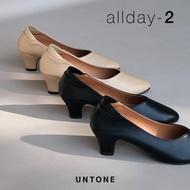 รองเท้าคัชชูสีดำไซส์ใหญ่ 35-46 ส้น 2 นิ้ว หนังพียู