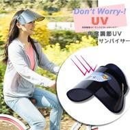 Hong Kong Backpack Store - 【全方位保護】防飛沬 抗UV 日本UV CUT 全方位防曬帽 (黑色) 旅行 戶外 適用