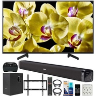 Sony XBR-49X800G 49-inch 4K UHD LED Smart TV (2019) Bundle with Deco Gear 60W Soundbar with Subwoofer, Deco Mount Flat Wall Mount Kit, Wireless Keyboard, Screen Cleaner and 6-Outlet Surge Adapter