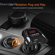 Domybest♚Car Phone Charger Handsfree MP3 Player FM Transmitter Dual USB Bluetooth 5.0