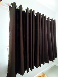ผ้าม่านสำเร็จรูปกันแสงUV แบบตาไก่เจาะห่วง ผ้าหน้าต่างประตู สีเทาเข้ม สีครีม สีน้ำตาล ขนาด 130*15013