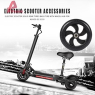 Wodღ Electric Scooter Accessories Solid Rear Tyres with Wheel Hub for Kugoo S1 S2 S3