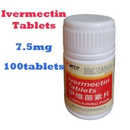 Ivermectin 7.5mg Tablets For Cats&Dogs 100 tablets