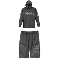 《SUNLINE》 SUW-6126 灰色帽T+短褲輕薄套裝 中壢鴻海釣具館