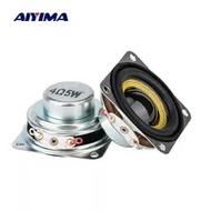 AIYIMA 1.5 Inci 4/8ohm 5W Mini Audio Portable Speaker 40Mm Berbagai Ultra Tipis Neodymium pengeras Suara untuk DIY Home Theater 2PCS