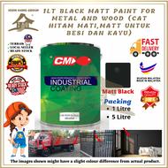 BLACK MATT PAINT FOR METAL AND WOOD ( Black Oxide Primer / Cat Hitam Mati / Cat Besi)