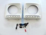 大禾自動車 大燈框+LED日行燈 素材 適用 BENZ G-CLASS W463 G320 G350 G500 G55