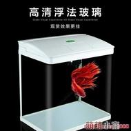 水族箱佳璐魚缸水族箱小型玻璃魚缸迷你生態桌面中型創意客廳家用金魚缸 萌萌小寵