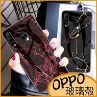 OPPO A72 Reno標準版 AX5 A73 A75 A75S AX7 Pro Realme 3大理石紋玻璃背殼 防刮保護殼 全包邊保護殼 手機殼