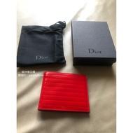 全新正品 Dior Homme DH 紅色漆皮  八卡  短夾  皮夾
