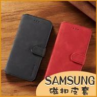 三星 A42 5G A32 5G 側翻皮套 商務插卡 影片支架 磁扣保護套 簡約質感 皮套 書本式手機殼