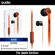 Sudio Klang Earphones For Apple Devices (Orange)
