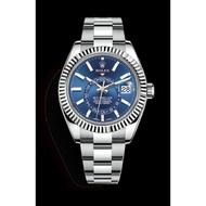 ROLEX 勞力士手錶 天行者 年曆錶 勞力士男錶 SKY-DWELLER 時尚男錶 商務男錶 藍面 326934