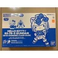 日版 現貨 台場限定 透明版 Hello Kitty x Gundam 凱蒂貓 鋼彈 元祖 SD BB 戰士 騎士 武者