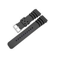Rubber Curved Line Watch Band 22mm Divers Model Fit for Seiko Watches