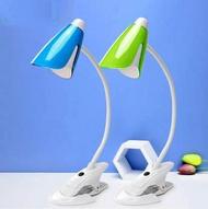 【LED檯燈-1035B夾子款-按鈕開關-1套/組】USB插電使用可調亮度護眼(無適配器)-7201005-2