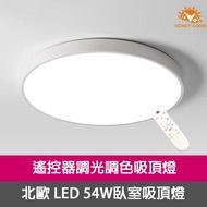【Honey Comb】LED 北歐風54W遙控吸頂燈 系列燈款(黑 / 白)