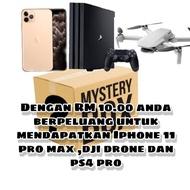 mystery box iphone 11 pro max ,ps4 pro dan dji drone