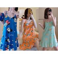 Cute Spaghetti Dress For Women Pajama Sleepwear slip dress Freesize